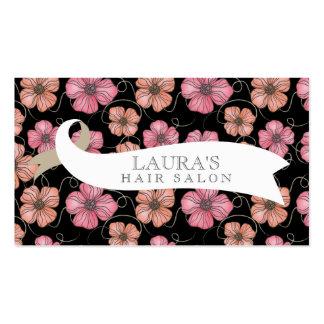 デザイナー|花柄|パターン|毛|サロン|ビジネス|カード ビジネスカードテンプレート