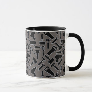 デザイナーDIYはベクトルパターンに用具を使います マグカップ