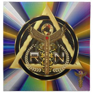 デザインについての医学のナースのロゴの普遍的な意見 ナプキンクロス