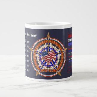 デザインについての愛国心が強いジャンボマグの眺め ジャンボコーヒーマグカップ