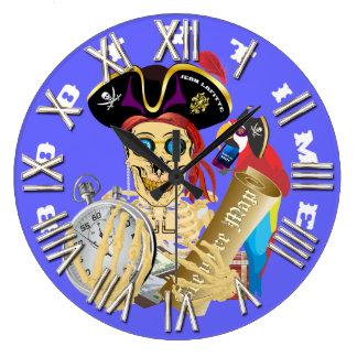 デザインについての海賊利得の時間重要な読書 ラージ壁時計