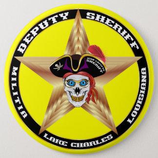 デザインについての海賊執行官代理重要な読書 缶バッジ