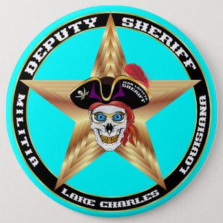 デザインについての海賊執行官代理重要な読書 15.2CM 丸型バッジ