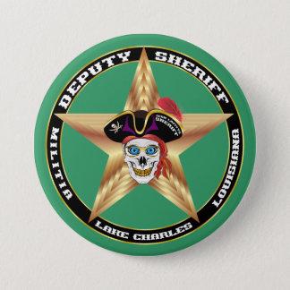 デザインについての海賊執行官代理重要な読書 7.6CM 丸型バッジ