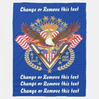 デザインについての退役軍人または家族の意見 フリースブランケット