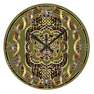 デザインについてのDAEの重要な読書による休日の時計 ラージ壁時計