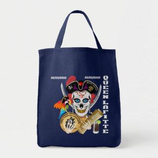 デザインについてのLafitte海賊女王の重要な読書 トートバッグ