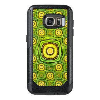 デザインのような抽象的な緑および黄色の貝 オッターボックスSamsung GALAXY S7ケース