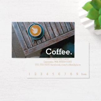 デザインのコーヒー正方形のテーブルのシンプルなロイヤリティのコーヒー 名刺