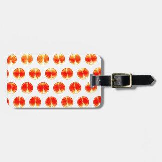 デザインのシンプルな円形の円のスタイルのファッションのオレンジ バッグタグ