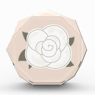 デザインのバラの茶色のエコ 表彰盾