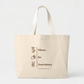 デザインのブラウンの縦のバッグ ラージトートバッグ