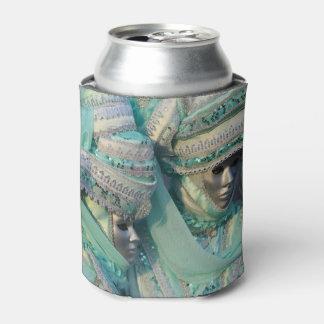 デザインの凝った服のカップルのコスチューム 缶クーラー