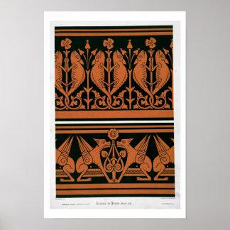 「デザインの勉強」からのプレートXIV、c.1874-76 (ついている ポスター
