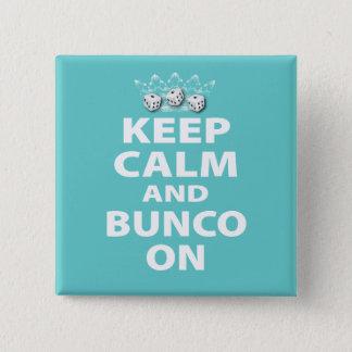 デザインの平静そしてBuncoを保って下さい 5.1cm 正方形バッジ