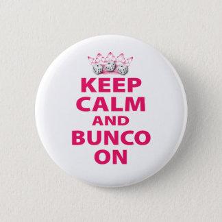 デザインの平静そしてBuncoを保って下さい 5.7cm 丸型バッジ