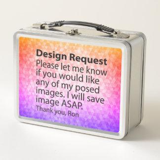 デザインの要求ステンレス製のお弁当箱 メタルランチボックス