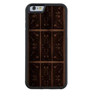 デザインのiPhone6ケースを切り分けるイタリアンな木 CarvedウォルナッツiPhone 6バンパーケース