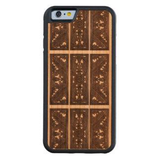デザインのiPhone6ケースを切り分けるイタリアンな木 CarvedチェリーiPhone 6バンパーケース