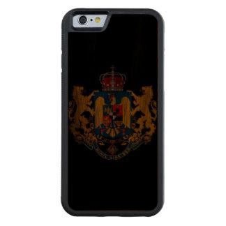 デザインのiPhone6ケースヴィンテージの紋章付き外衣 CarvedウォルナッツiPhone 6バンパーケース
