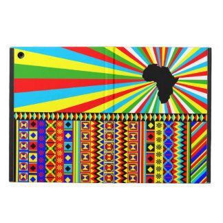 デザインのKenteのアフリカの布種族パターン赤 iPad Airケース