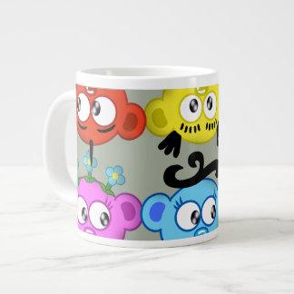 """""""デザインをかいま見る惑星のピーカブー"""" ジャンボコーヒーマグカップ"""