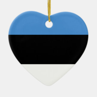 デザインをくまなくエストニアの旗 セラミックオーナメント