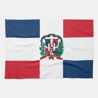 デザインをくまなくドミニコ共和国の旗 キッチンタオル