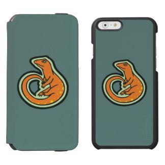 デザインを引出す点を持つ長い尾のオレンジトカゲ INCIPIO WATSON™ iPhone 6 ウォレットケース