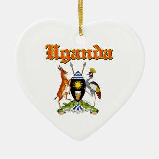 デザインウガンダのグランジな紋章付き外衣 セラミックオーナメント