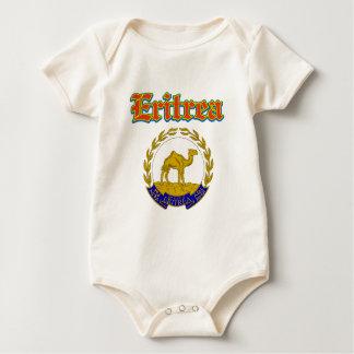 デザインエリトリアのグランジな紋章付き外衣 ベビーボディスーツ