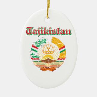 デザインタジキスタンの紋章付き外衣 セラミックオーナメント
