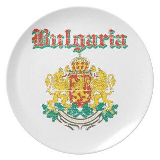 デザインブルガリアのグランジな紋章付き外衣 プレート