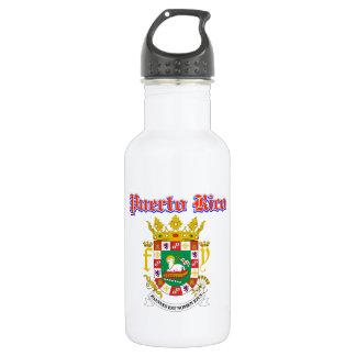 デザインプエルトリコのグランジな紋章付き外衣 ウォーターボトル