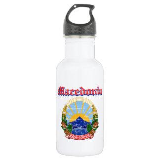 デザインマケドニアのグランジな紋章付き外衣 ウォーターボトル
