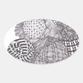 デザインヤーンの球 楕円形シール