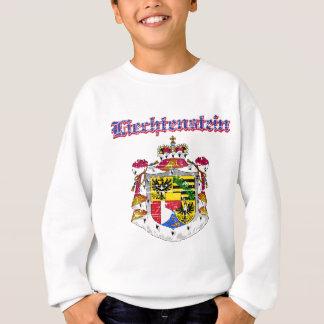 デザインリヒテンシュタインのグランジな紋章付き外衣 スウェットシャツ
