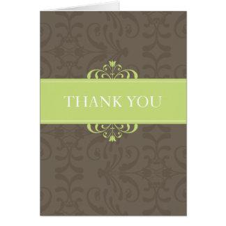 デザイン04 -色: 緑及びチョコレート カード