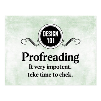 デザイン101: Profreading (校正)… ポストカード
