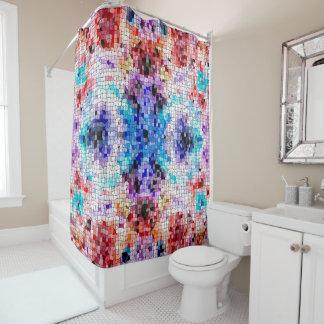 デザイン104のモザイク シャワーカーテン
