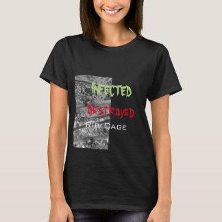 デザイン1: クロムくも、デザイン2感染させたDestro Tシャツ