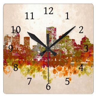 デザイン46の都市景観 スクエア壁時計