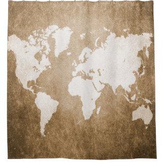 デザイン56の世界地図 シャワーカーテン