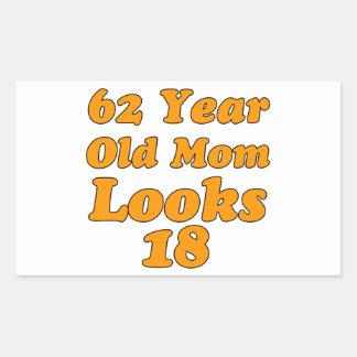 デザイン62歳の誕生日の 長方形シール