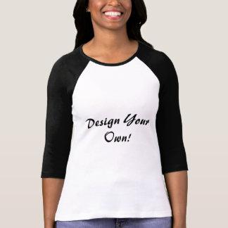 デザイン あなたの 所有するため 白い 黒 TEE シャツ
