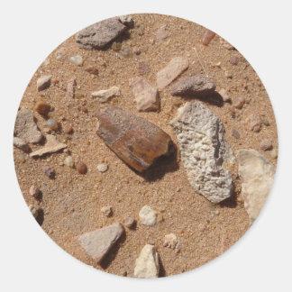 デザートの化石 ラウンドシール