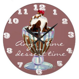 デザートの時間柱時計 ラージ壁時計