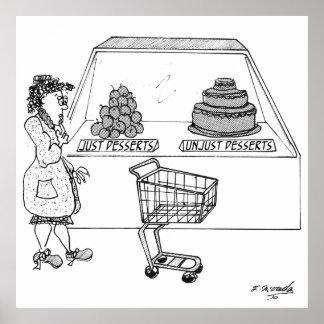 デザートの漫画1775年 ポスター