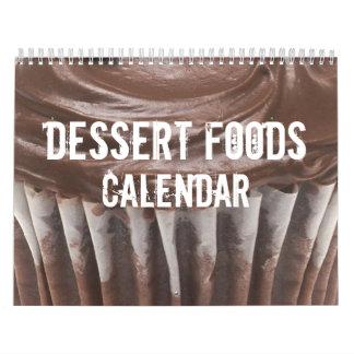 デザートの食糧カレンダー カレンダー