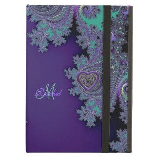 デジタルすみれ色の紫色のフラクタル iPad AIRケース